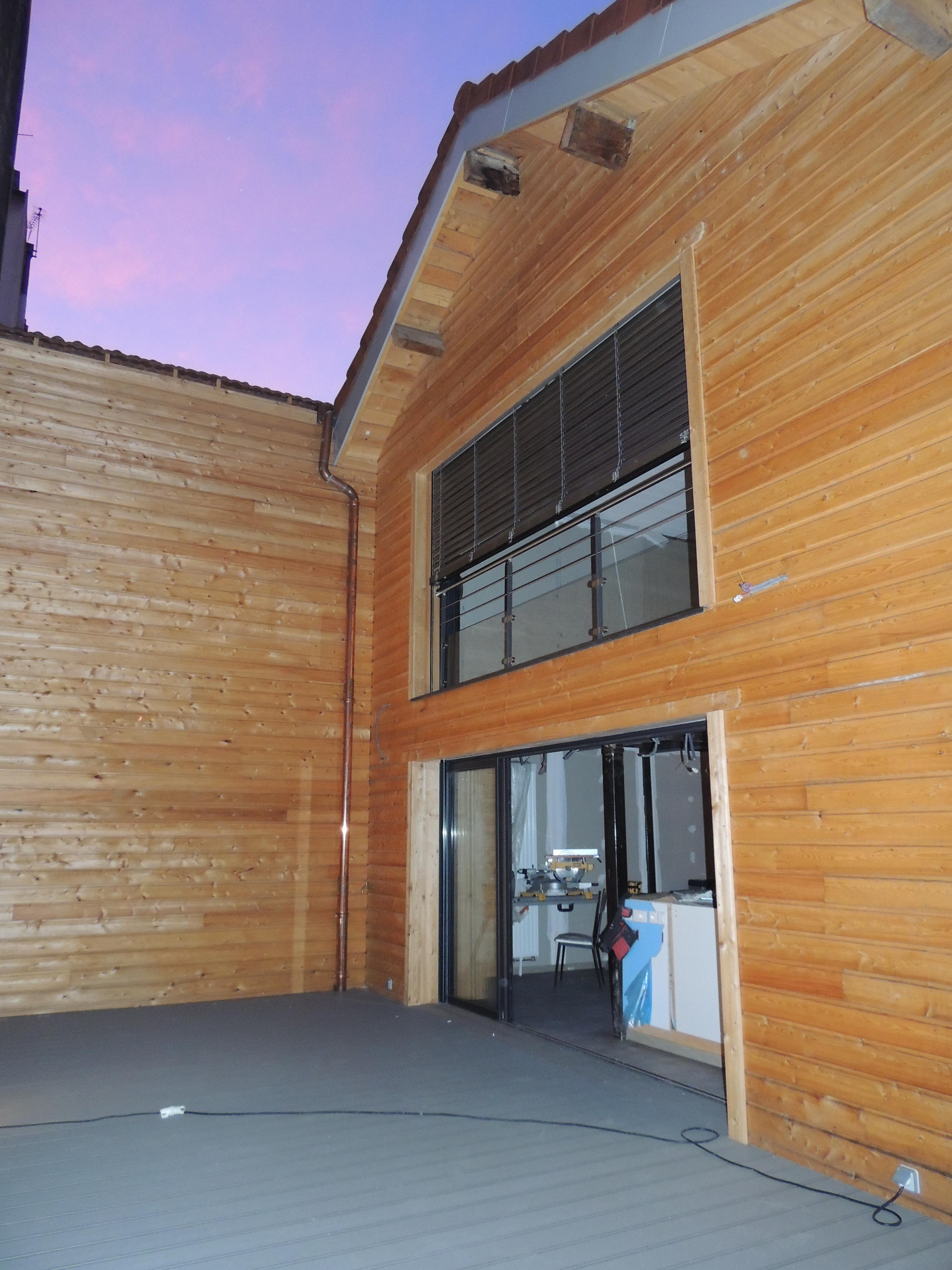 cr ation d 39 un loft par l 39 entreprise ameko habitat dans l 39 ain 01. Black Bedroom Furniture Sets. Home Design Ideas